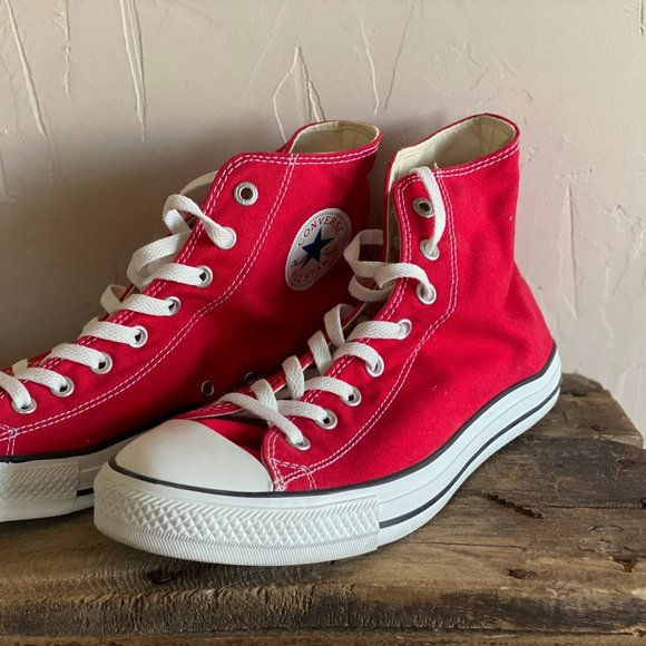 Red Converse All Star Hi-tops